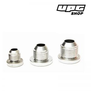 Male Aluminium Weld On Fittings Round Base AN10 / 8 / 6