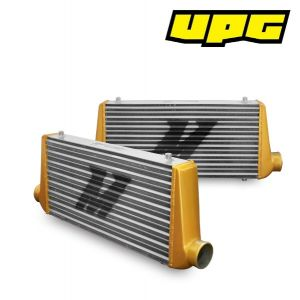 Mishimoto Universal Intercooler M-Line Eat Sleep Race Edition, Gold End Tanks