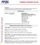 IGOL SYMBOL CERAMIC 5W40 Semi-synthetic oil